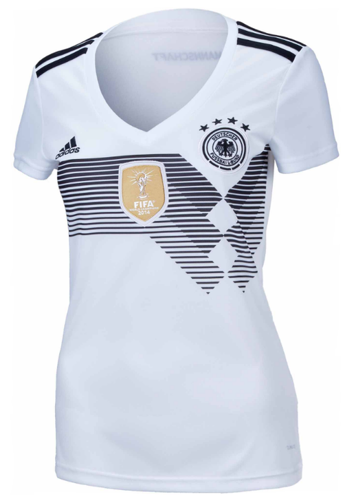 adidas Womens Germany Home Jersey 2018-19 - Black/White (020520)
