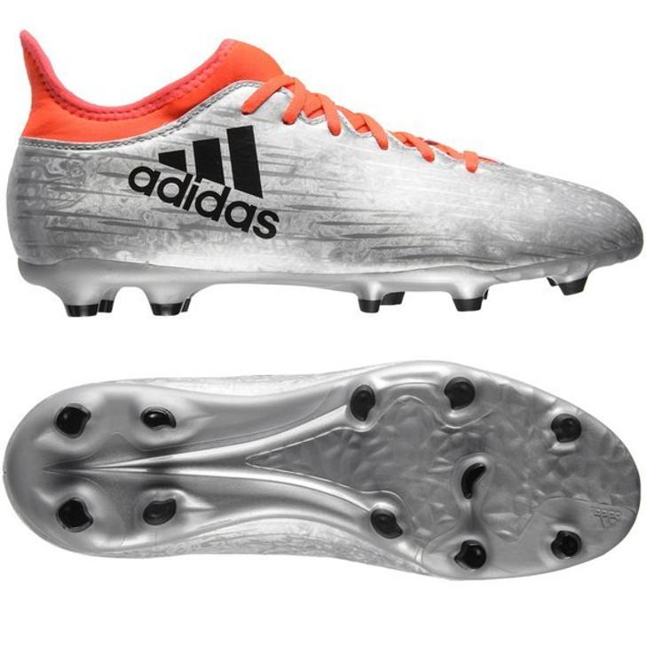 Adidas X 16.3 FG Jr. - Silver Metallic/ Core Black/Solar Red