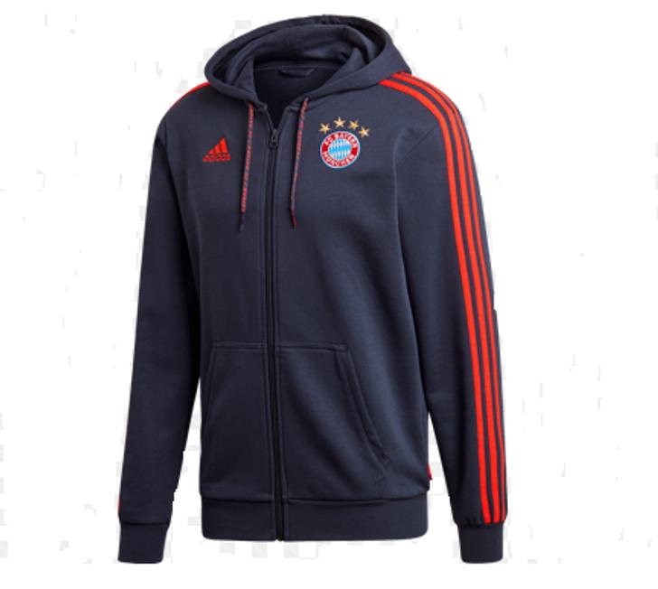Adidas FC Bayern FZ Hoody - Navy/Red (123019)