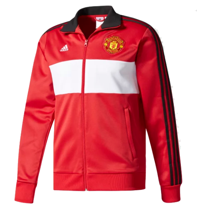 Adidas Manchester United 17/18 3 Stripe Track Top Red/Black RC (123119)