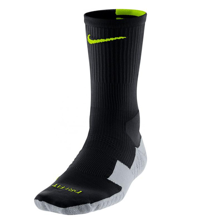 Nike Stadium Soccer Crew Sock - Black/Yellow