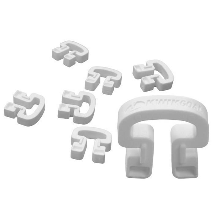 Kwikgoal Lock Net Clips- White- (081720)