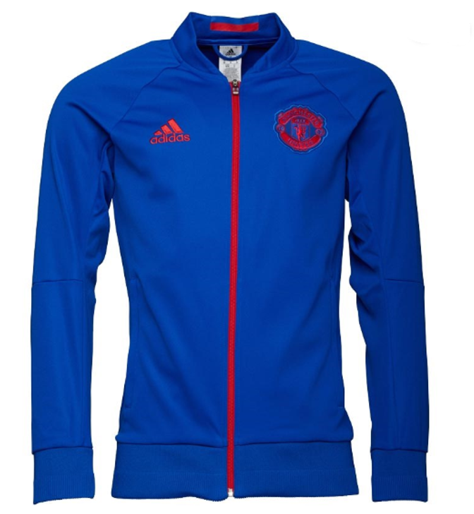 adidas Manchester United Anthem Jacket 17/18 - Collegiate Royal/Real Red  SD (123119)