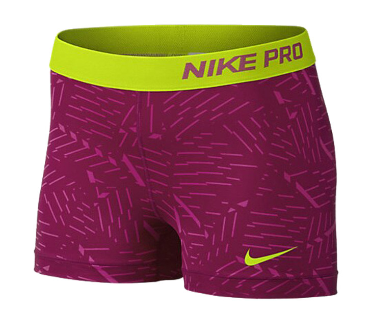 Nike Wmns Pro Bash 3 Short - Pink/Volt