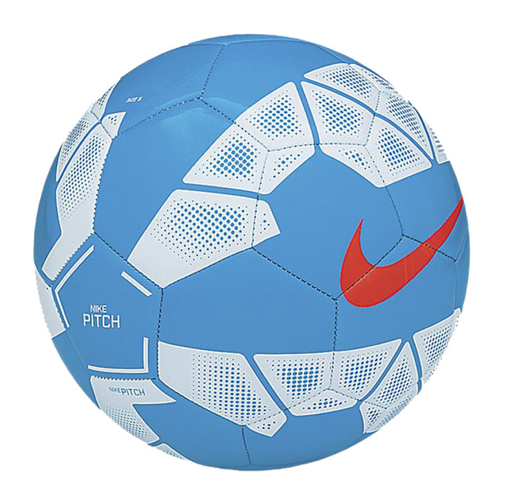 Nike Pitch Soccer Ball - Blue Lagoon/White/Hyper Crimson- (082220)