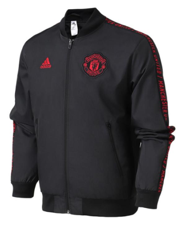 adidas Manchester United Anthem Jacket Black/Red (100821)