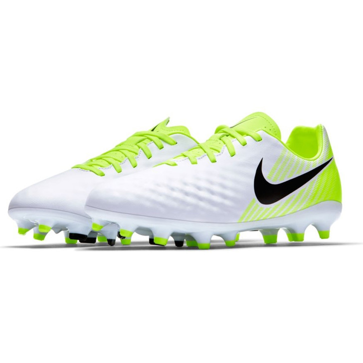 Nike Magista Opus II FG Youth Soccer Cleats White/Volt/Black SD (012120)