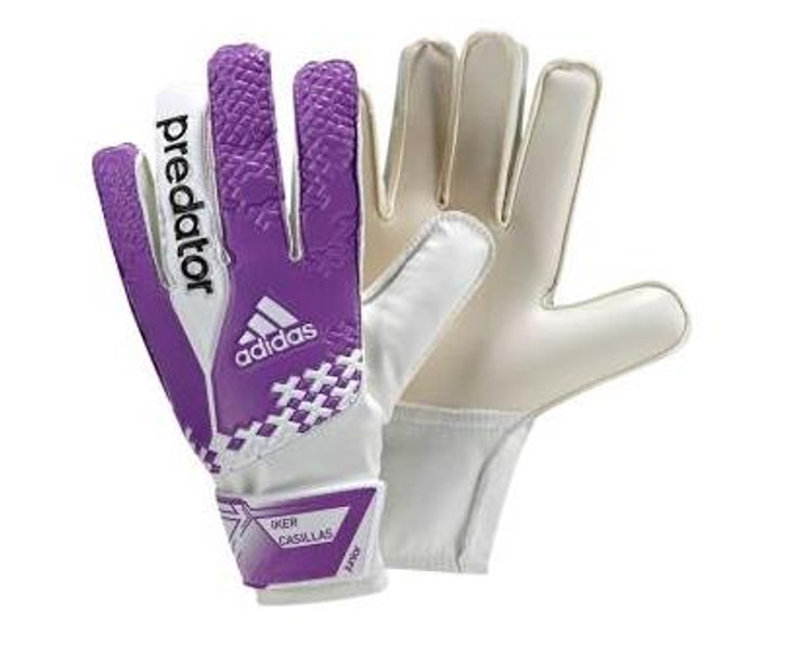 adidas Jr Predator GK Gloves - White/Purple SD (62717)