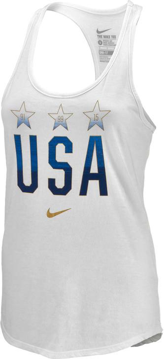 Nike Womens Away 3 Star Tank Top - White SD (010520)