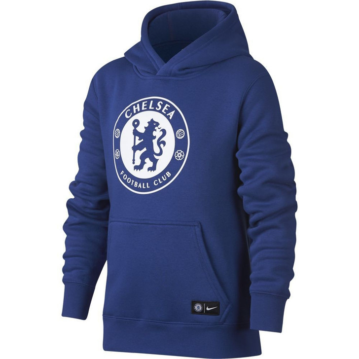 Nike Youth Chelsea NSW Hoodie - Rush Blue/White - (051320)