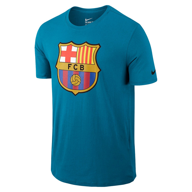 Nike Barcelona Crest T Shirt - Light Blue Lacquer/Black (12418)