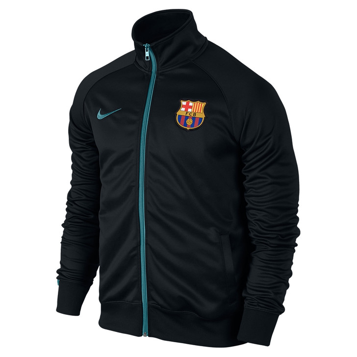 Nike Barcelona Core Training Jacket - Black/Light Current Blue