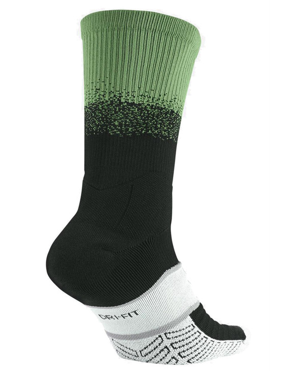 Nike Elite Matchfit Dipped In Sock - Black/Ghost Green