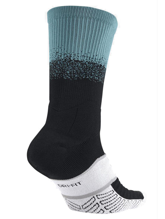 Nike Elite Matchfit Dipped In Sock - Black/Light Current Blue