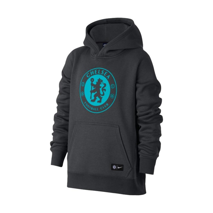 Nike Chelsea Youth Hoodie - Anthracite/Omega Blue - (052620)