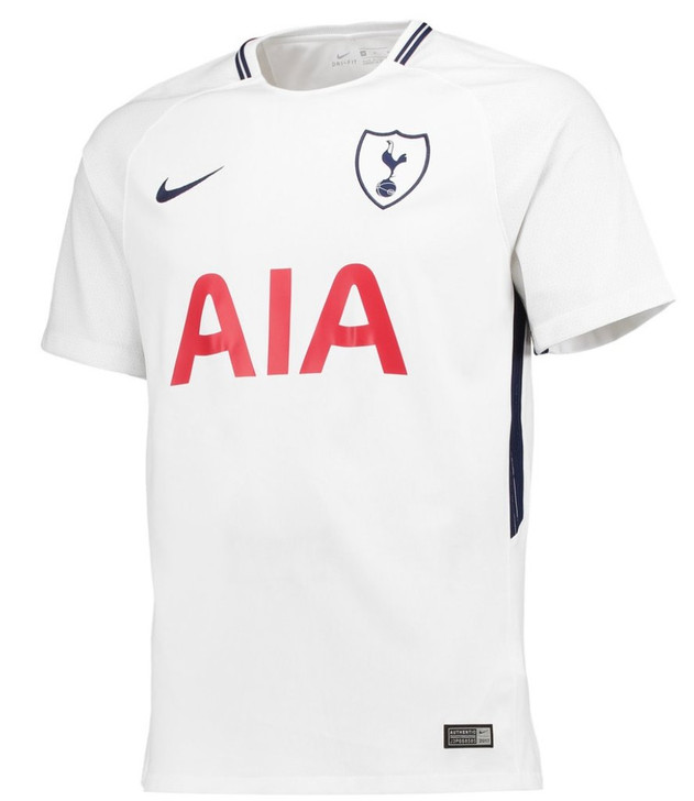Nike Tottenham Hotspur Home Jersey 17/18 - White/Binary Blue  SD (090120)
