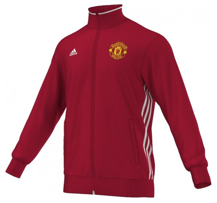 adidas Manchester United 3S Track Top - Red/Yellow RC (030819)