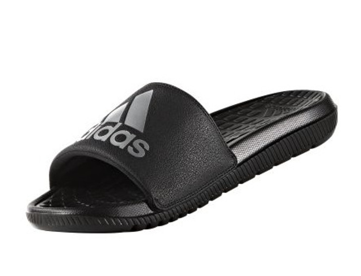 4a83abf90c41fb adidas Voloomix Slide Sandals - Black White - ohp soccer