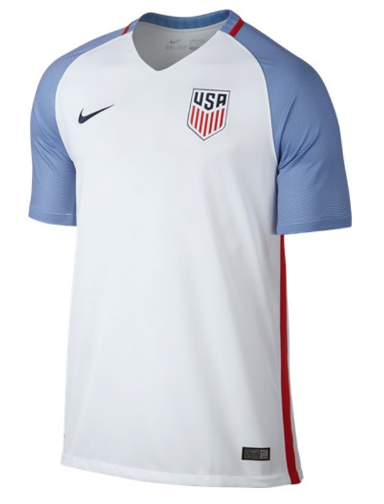 Nike USA Home Jersey 16/17 - White/Game Royal/Midnight Navy RC (030919)
