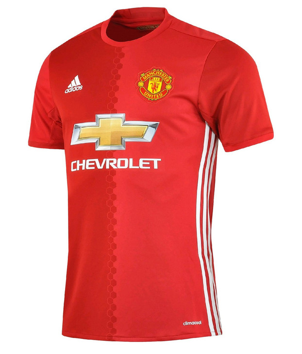 adidas Manchester United Home 16/17 Jersey - Red/Yellow RC (030819)