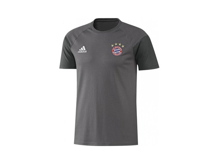 adidas FC Bayern Youth Tee - Granite/White SD (123119)