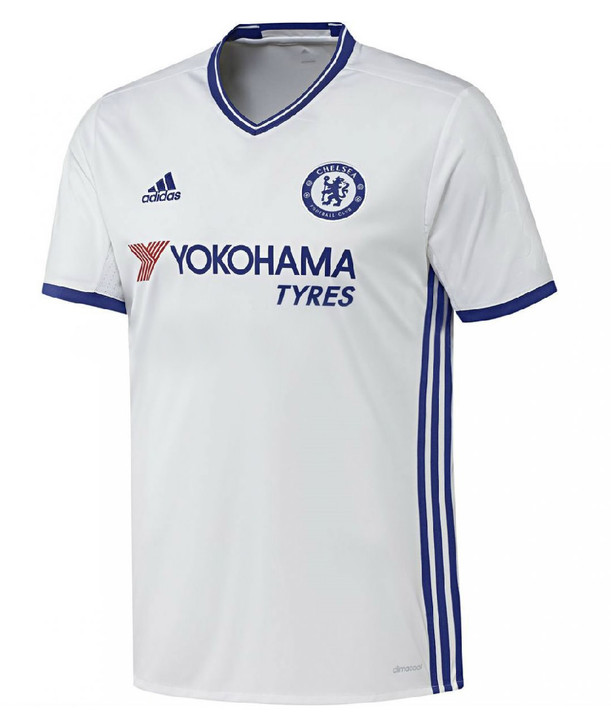best sneakers 0e975 cbfa1 Adidas Chelsea FC Third Kit 16/17 - White/Chelsea Blue