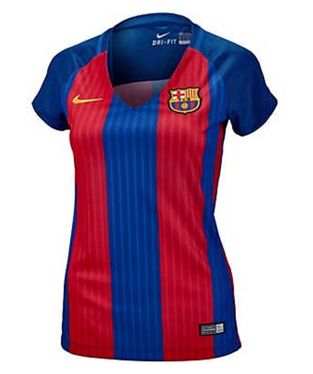 Nike Womens FC Barcelona Home Jersey 16/17 - Red/Blue- (081220)