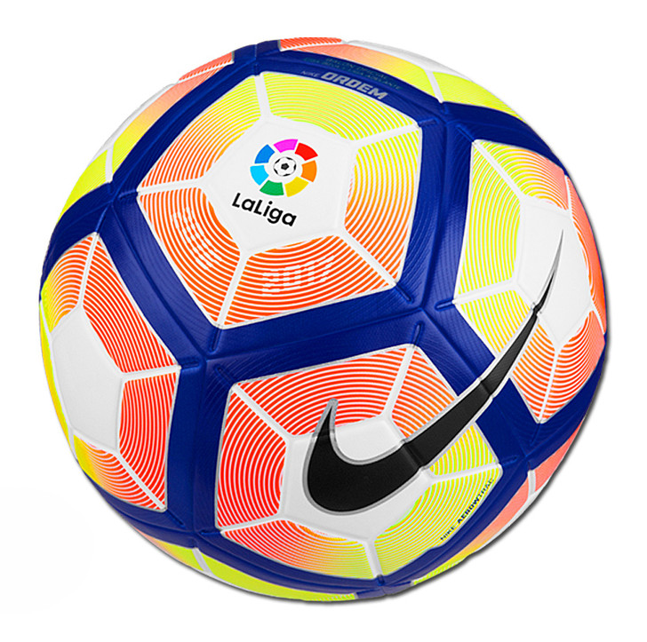 Nike Ordem 4 La Liga Ball - White/Orange/Blue (41518)