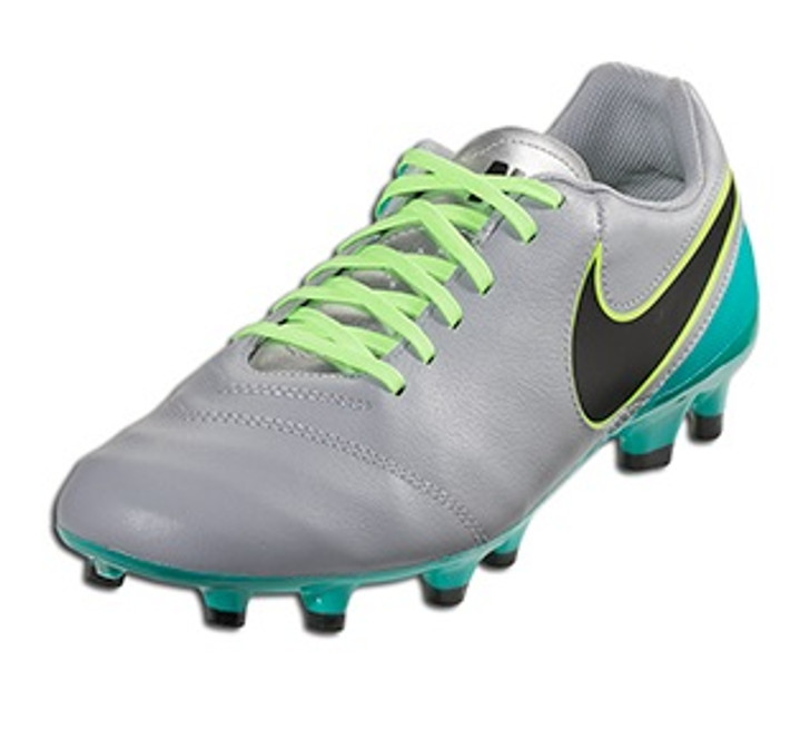 5d1781842cb Nike Tiempo Genio Leather FG - Wolf Grey Clear Jade Black Volt ...
