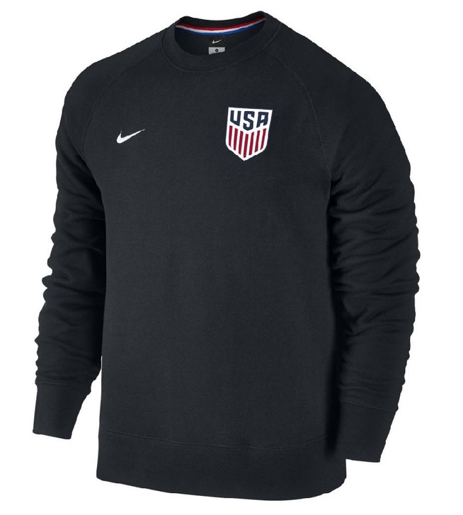Nike Men's USA AW77 Authentic Crew - Black SD (090120)