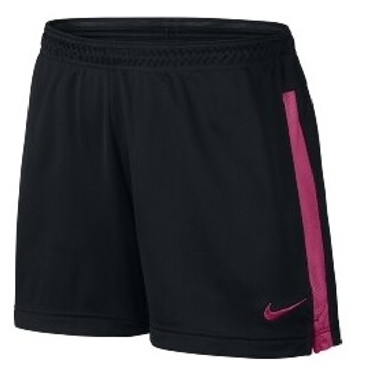 Nike Academy Knit Women's Soccer Shorts - Black/Vivid Pink RC (011420)