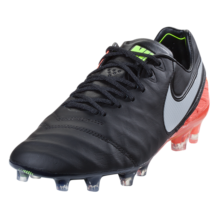 Nike Tiempo Legend VI FG - Black/White/Hyper Orange/Volt- RC (081720)