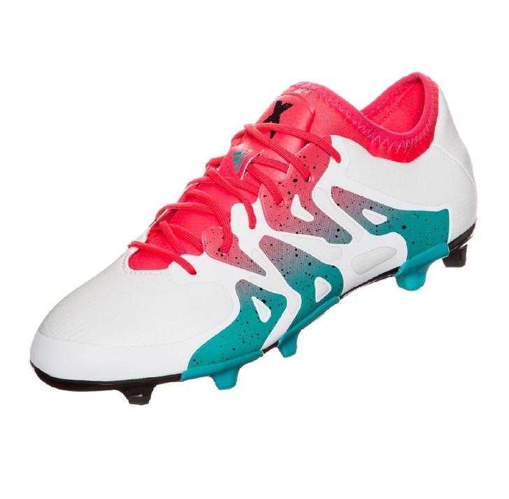 adidas Womens X 15.1 FG/AG RC - White/Shock Green/Core Black RC (020519)
