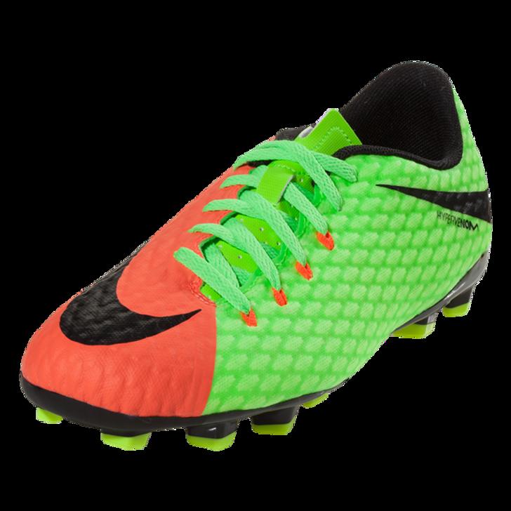 Nike Jr Hypervenom Phelon III FG - Electric Green/Hyper Orange (123118)