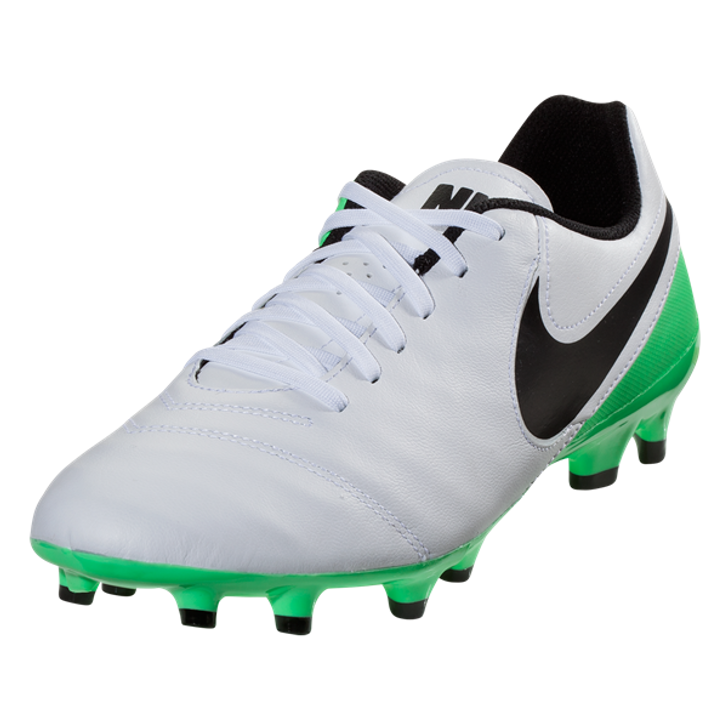 bbbff80f9e08 Nike Tiempo Genio II Leather FG - White Black Electro Green SD (021819 ...