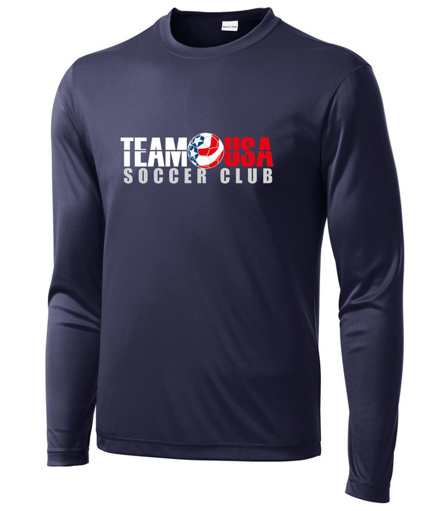 Team USA Youth LS Practice Tee - Navy