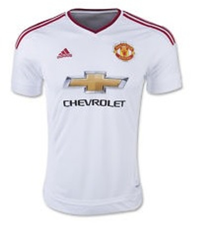 adidas  Manchester United 15/16 Away Jersey - White (030819)