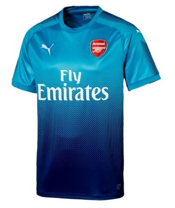 quality design c6908 d558b Puma Arsenal 2017-2018 Away Jersey - Blue Danube/Limoges (10817)
