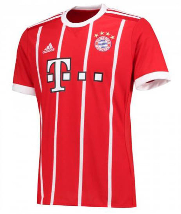 Adidas Bayern Munich 2017-2018 Home Jersey - True Red/White (050519)