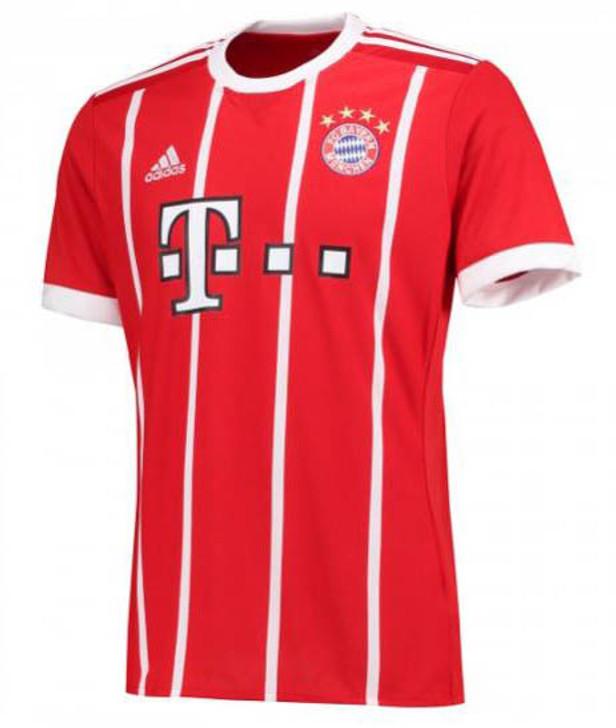 Adidas Bayern Munich 2017-2018 Home Jersey - True Red/White (10817)
