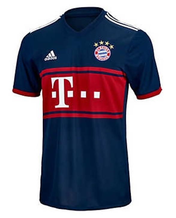 Adidas Bayern Munich 2017-2018 Away Jersey - Collegiate Navy/True Red (050519)