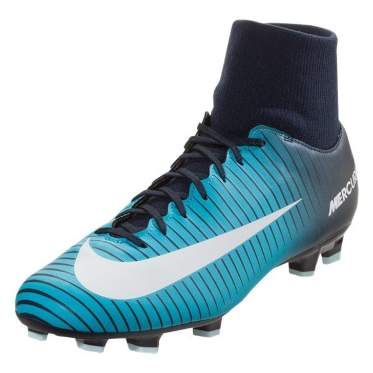 new arrival a6764 3d57f Nike Mercurial Victory VI DF FG - Obsidian  White Gamma Blue (102617)