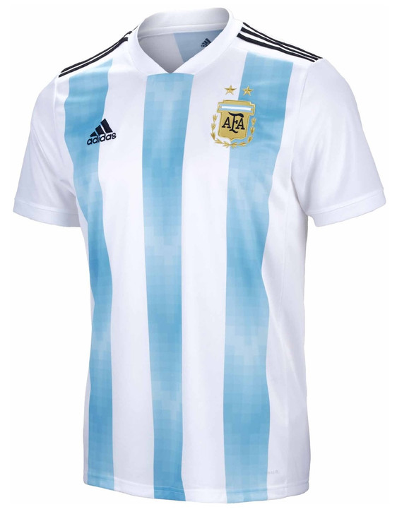 adidas Argentina World Cup 2017/18 Home Jersey - White/Clear Blue/Black (111117)