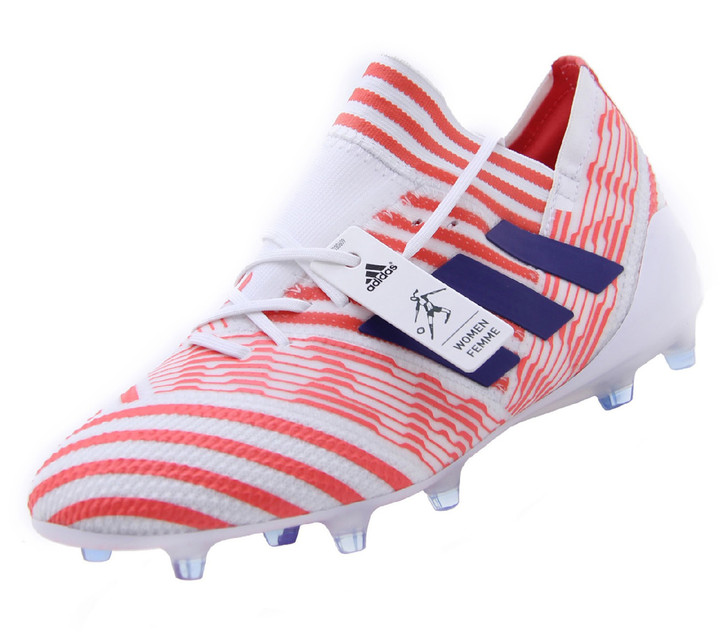 Adidas Women's Nemeziz 17.1 FG  - White/Mystery Ink/Easy Coral RC (111819)
