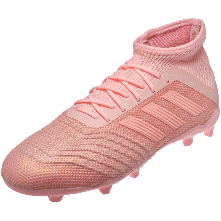 Adidas Predator 18.1 FG Jr - Clear Orange/Trace Pink (060221)