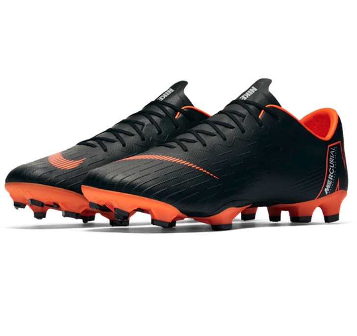 Nike Vapor 12 Pro FG - Black/Total Orange/White (11108)