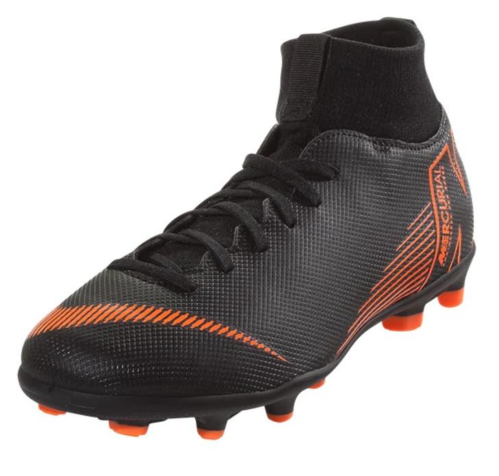 Nike Jr. Superfly 6 Club MG - Black/Total Orange/White SD (012120)