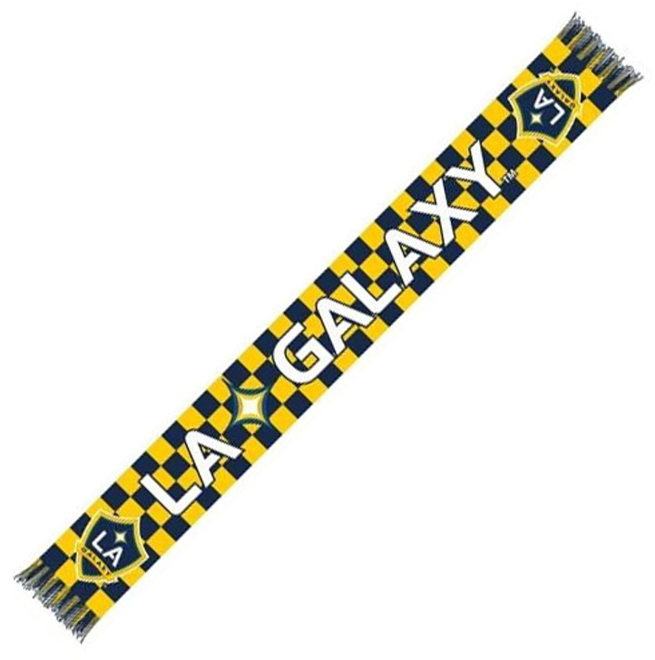 LA Galaxy Checkered Scarf - White/Blue/Yellow (31618)