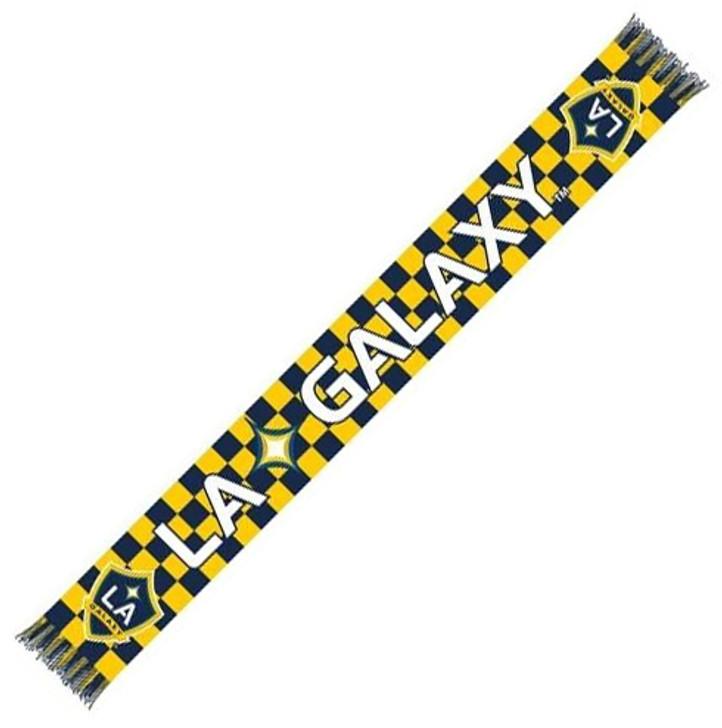 LA Galaxy Checkered Scarf - White/Blue/Yellow (31618)