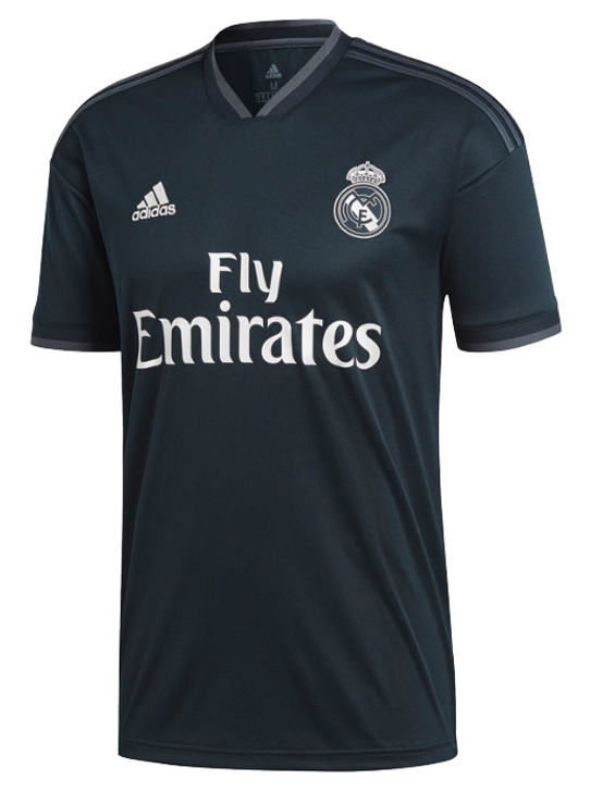 Adidas Real Madrid Away Jersey 18/19  - Tech Onix/Bold Onix/White (012519)